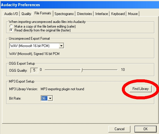 lame mp3 encoding: